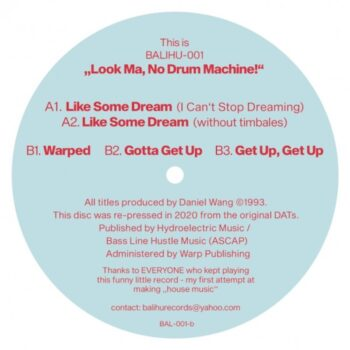 "Wang, Daniel: The Look Ma No Drum Machine EP [12""]"