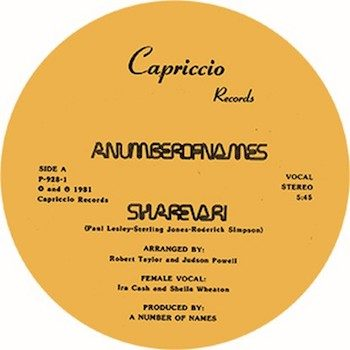 "A Number Of Names: Sharevari [12""]"