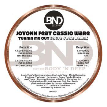 """Jovonn & Casioware: Turnin Me Out - incl. remixes par Louie Vega [12""""]"""