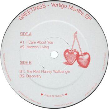 """GREETINGS: Vertigo Months EP [12""""]"""