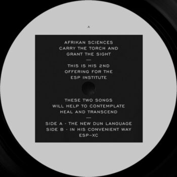 "Afrikan Sciences: The New Dun Language / In His Convenient Way [12""]"