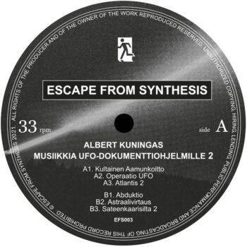 """Kuningas, Albert: Musiikkia UFO—dokumenttiohjelmille 2 [12""""]"""