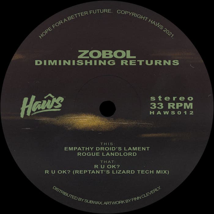 "Zobol: Diminishing Returns — incl. Remix par Reptant [12""]"