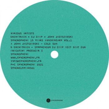 "Drivetrain + DJ Deep + John Jastszesbki: Syncrophone 15 Years Anniversary Vol. 1 [12""]"
