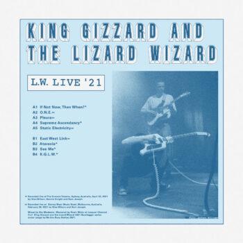 King Gizzard And The Lizard Wizard: L.W. Live in Australia [LP, vinyle clair, sillon inversé]