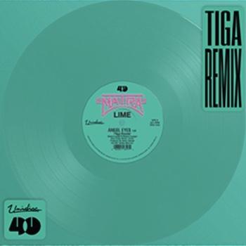 """Lime: Angel Eyes — incl. remix par Tiga [12"""", vinyle sarcelle]"""